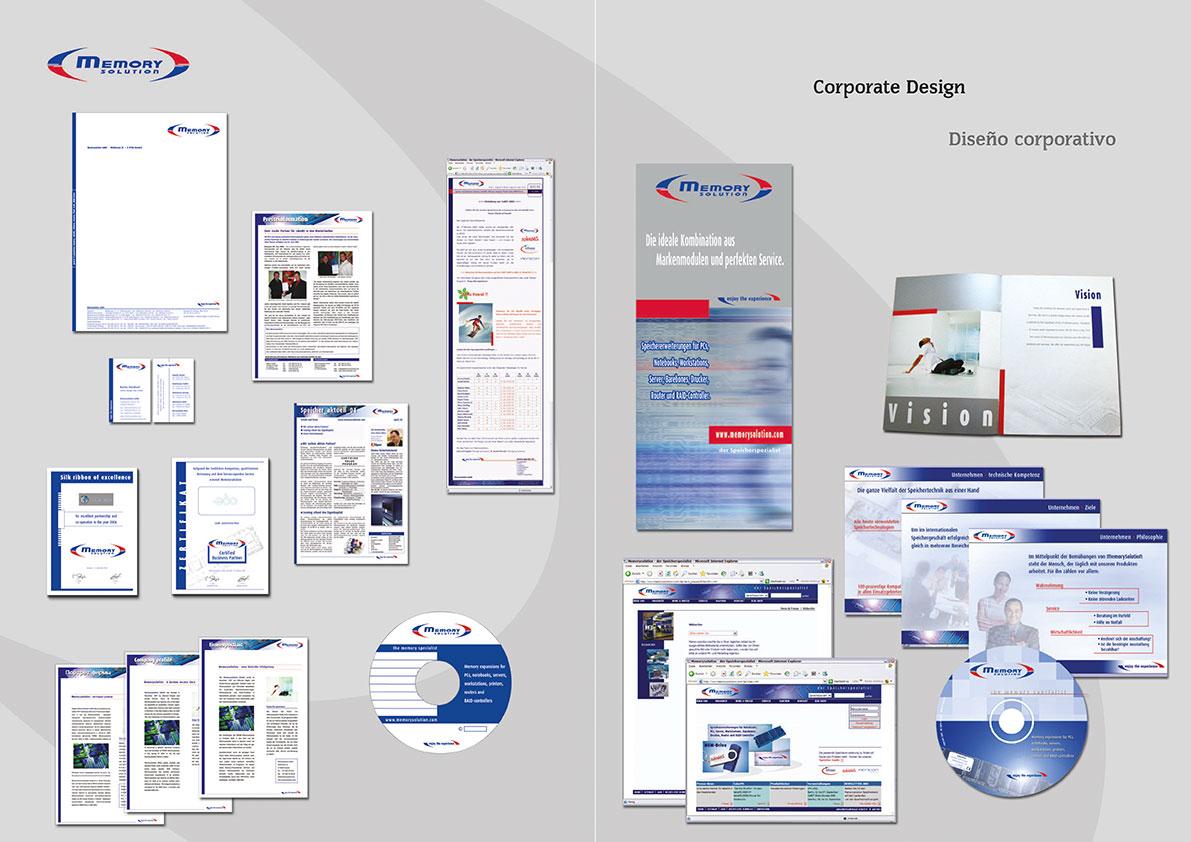 Logo, Briefbogen, Visitenkarte, Firmenprofil, CD-Label, Rollup-Display, Präsentationsmappe, Broschüren, e-Mailings, Anzeigen, Datenblätter, etc.