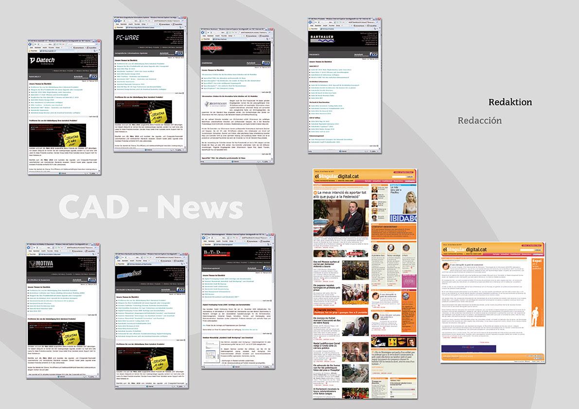 """Aufbereitung von News von Autodesk für Händler im deutschsprachigen Raum & redaktionelle Arbeit für die Zeitung """"El Singular Digital"""" (Sprache: Katalanisch)."""